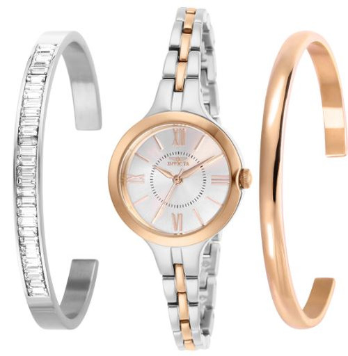 Invicta Women's 29347 Angel Quartz 3 Hand Silver Dial Watch