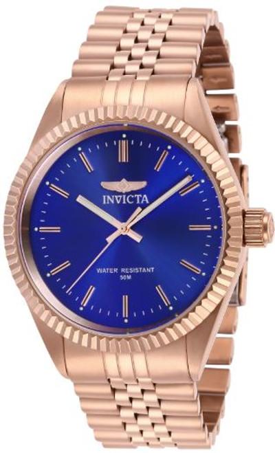 Invicta Men's Specialty 29392 Quartz 3 Hand Blue Dial Watch