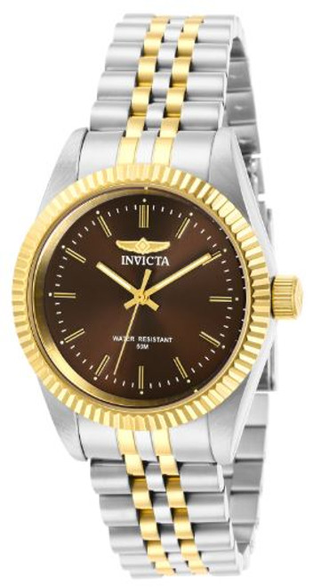 Invicta Lady 29404 Specialty Quartz 3 Hand Brown Dial Watch