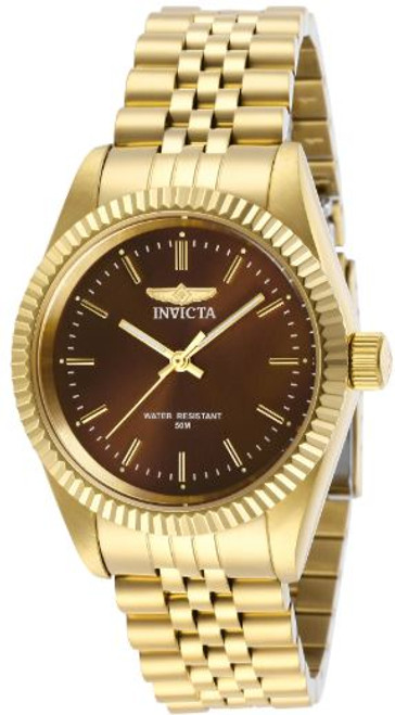 Invicta Lady 29410 Specialty Quartz 3 Hand Brown Dial Watch