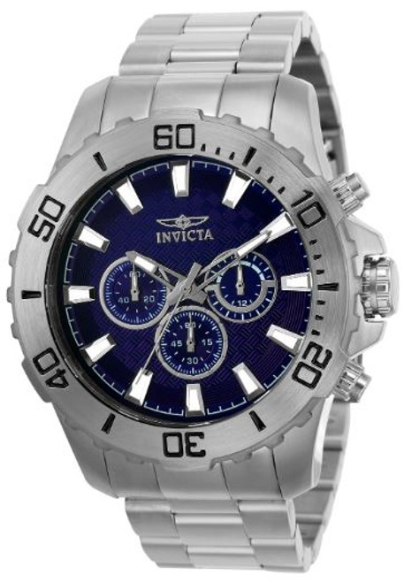 invicta Men's 22543 Pro Diver Quartz Chronograph Blue Dial Watch