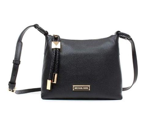 MICHAEL by Michael Kors Lexington Black Pebbled Leather Crossbody Bag, Leather crossbody, black crossbody, women's crossbody, one size Black 32F9GNDC3L-001