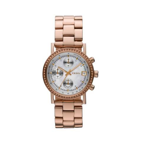 DKNY Chronograph Mother of Pearl Rose Gold-tone Ladies Watch NY8358 [Watch]