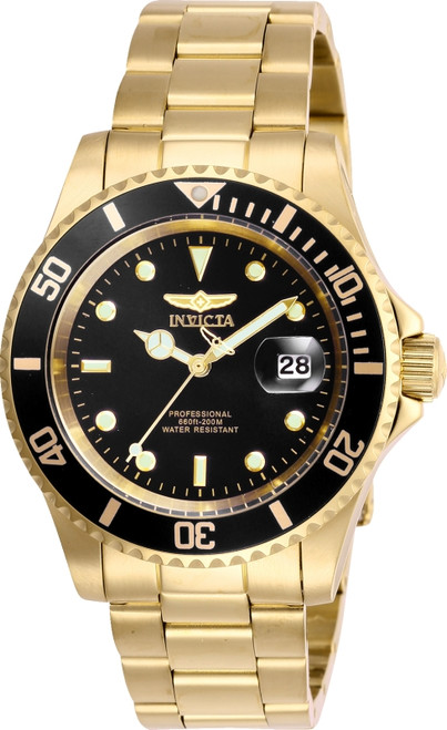 Invicta Men's Pro Diver Quartz Watch with Stainless Steel Strap, Gold, 20 (Model: 26975) …