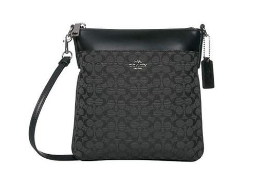 COACH Signature Jacquard Kitt Black/Silver One Size 86095-SV/BK