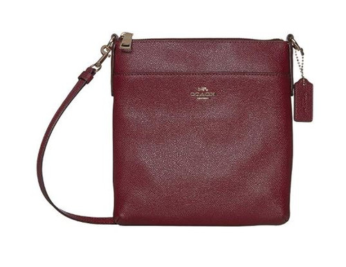 COACH Crossgrain Messenger Crossbody Deep Red/Gold One Size 41320-GDDPR