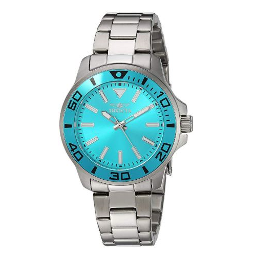 Invicta Women's Pro Diver Quartz Watch with Stainless-Steel Strap, Silver, 8 (Model: 21539)