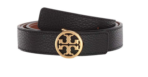 Tory Burch Logo Reversible Leather Belt 56643-004-M