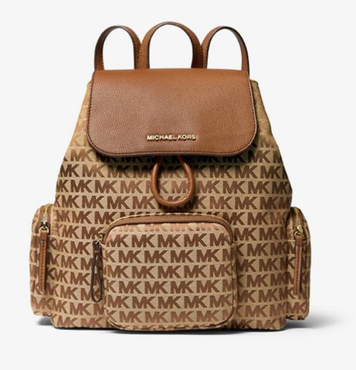 Michael Kors Abbey Cargo Backpack (Beige) 35H9GAYB3J-358