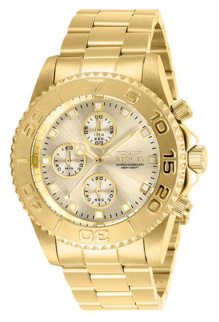 Invicta Men's 28683 Pro Diver Quartz Multifunction Champagne Dial Watch