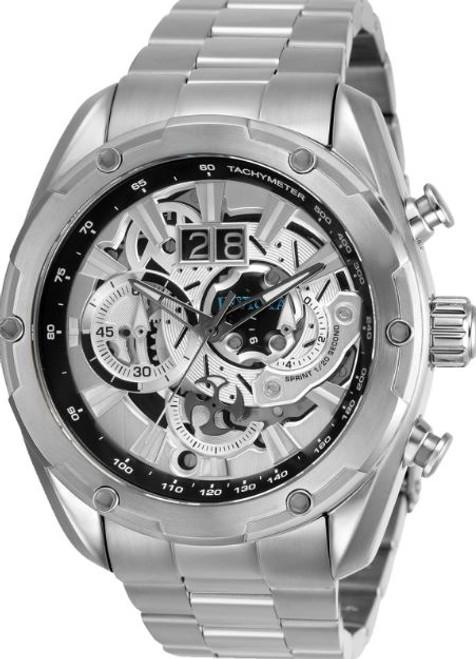 Invicta Men's 30036 Speedway Quartz Chronograph Silver Dial Watch