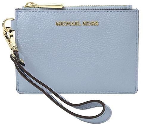 MICHAEL Michael Kors Mercer Small Coin Purse Pale Blue One Size 32T7GM9P0L-487