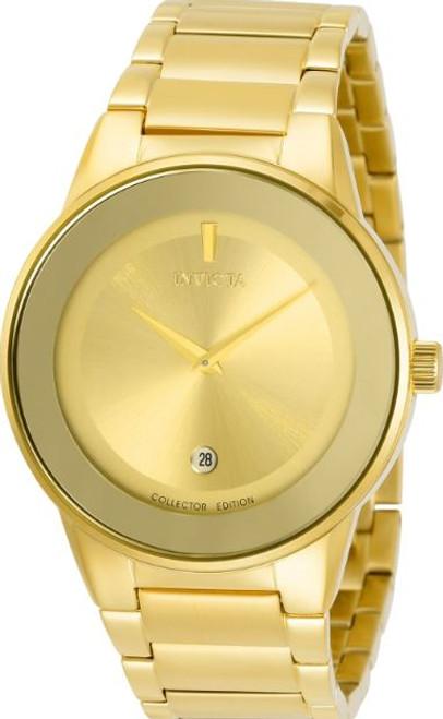 Invicta Men's 30535 Specialty Quartz 2 Hand Gold Dial Watch