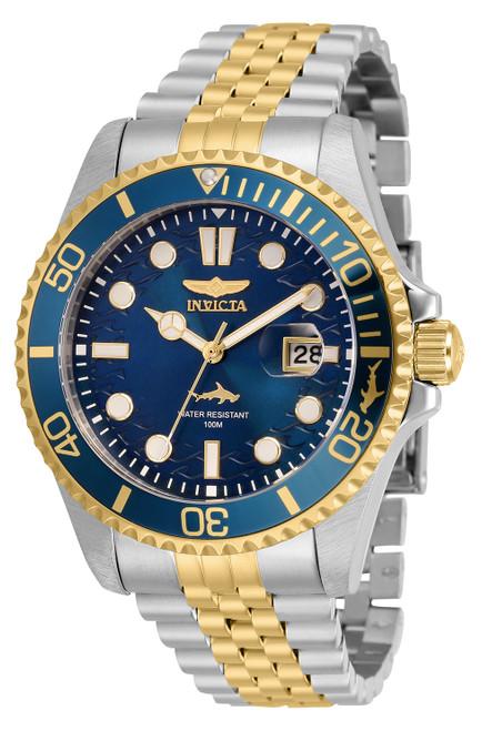 Invicta Men's 30616 Pro Diver Quartz 3 Hand Blue Dial Watch