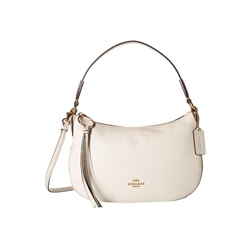 COACH Polished Pebble Leather Sutton Crossbody Chalk/Gold One Size 52548-GD/HA