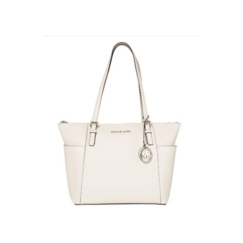 MICHAEL Michael Kors Jet Set Item East/West Top Zip Tote Optic White One Size 30F2STTT8L-085
