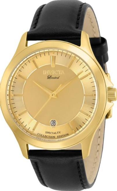 Invicta Men's 31126 Specialty Quartz 2 Hand Gold Dial Watch