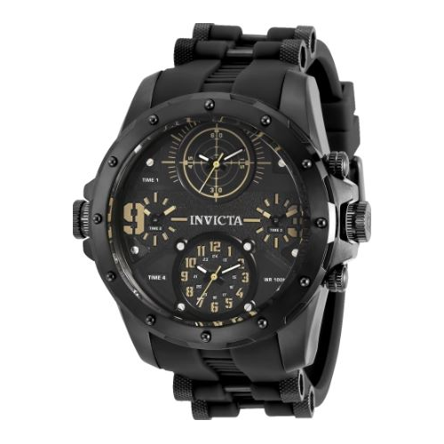 Invicta Men's 31140 Coalition Forces Quartz Multifunction Black Dial Watch