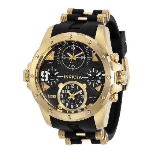 Invicta Men's 31141 Coalition Forces Quartz Multifunction Black Dial Watch