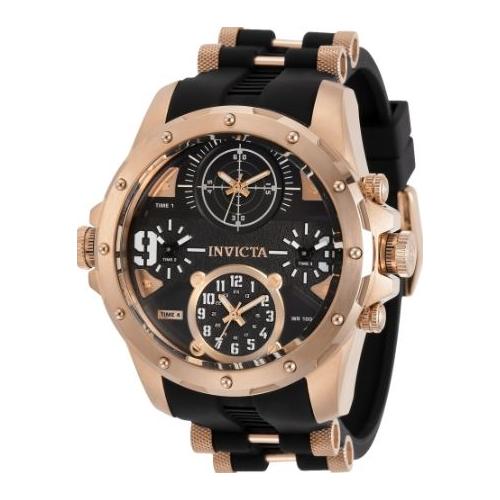 Invicta Men's 31142 Coalition Forces Quartz Multifunction Black Dial Watch