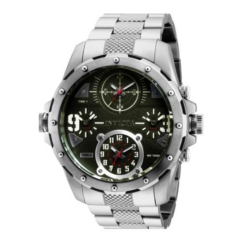 Invicta Men's 31147 Coalition Forces Quartz Chronograph Green Dial Watch