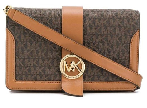 Luxury Fashion | Michael Kors Woman 32S0G00C8B252 Brown Synthetic Fibers Shoulder Bag 32S0G00C8B-252