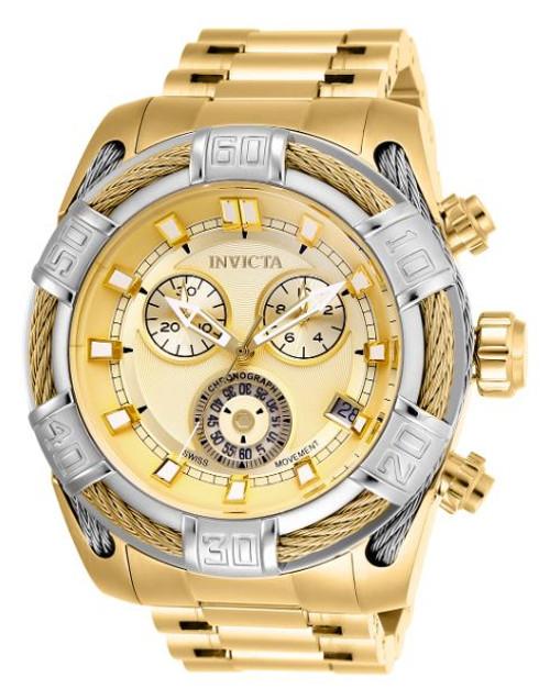 Invicta Men's 26992 Bolt Quartz Chronograph Gold Dial Watch