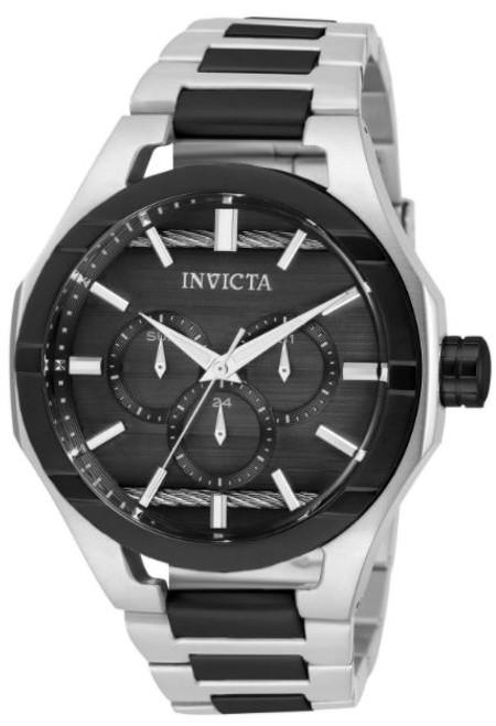 Invicta Men's 31828 Bolt Quartz Chronograph Black, Silver Dial Watch