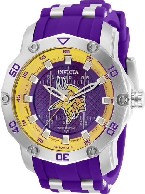 Invicta Men's 32025 NFL Minnesota Vikings Automatic 3 Hand Purple Dial Watch