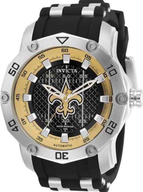 Invicta Men's 32026 NFL New Orleans Saints Automatic 3 Hand Black Dial Watch