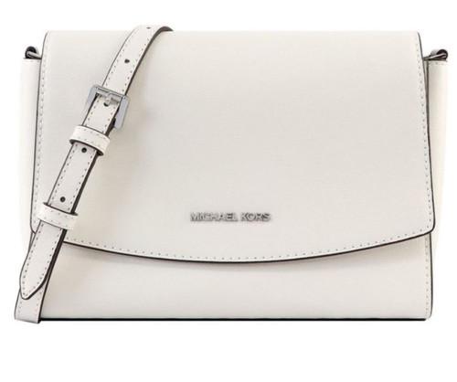 Michael Kors Medium Flap Messenger Bag Optic White 38T9CE0M2L-085 …