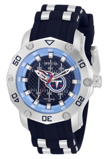 Invicta Women's 32900 NFL Tennessee Titans Automatic 3 Hand Dark Blue Dial Watch