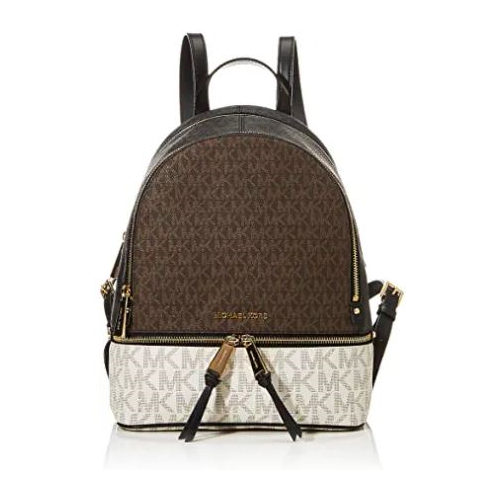 MICHAEL Michael Kors Rhea Zip Medium Backpack Brown Multi One Size …