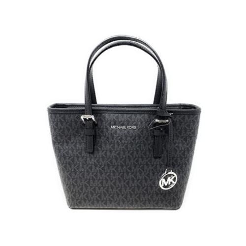 Michael Kors XS Carry All Jet Set Travel Womens Black PVC …