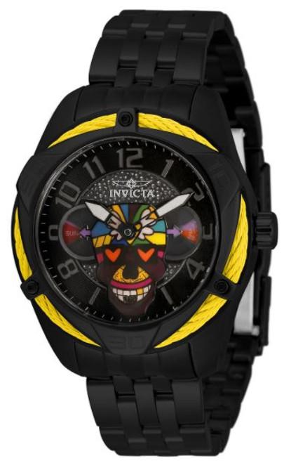 Invicta Women's 33522 Britto Quartz 3 Hand Blue, Green, Yellow, Orange, Purple, White, Red, Black Dial Watch