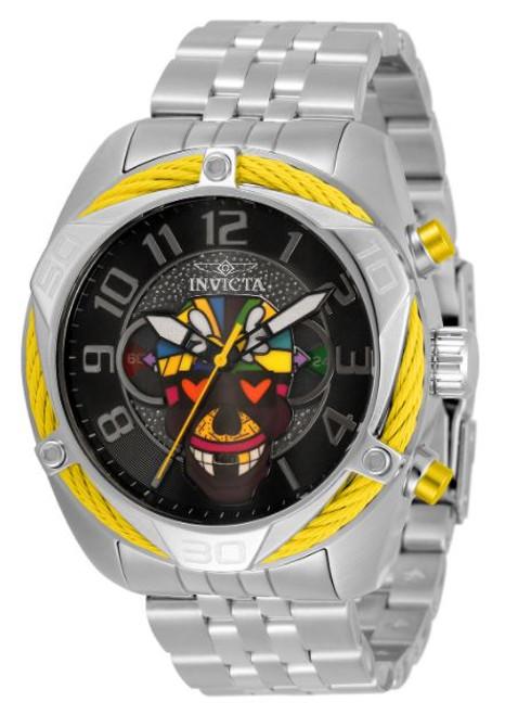 Invicta Men's 33523 Britto Quartz 3 Hand Blue, Green, Yellow, Orange, Purple, White, Red, Black Dial Watch