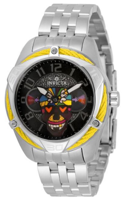 Invicta Women's 33524 Britto Quartz 3 Hand Blue, Green, Yellow, Orange, Purple, White, Red, Black Dial Watch