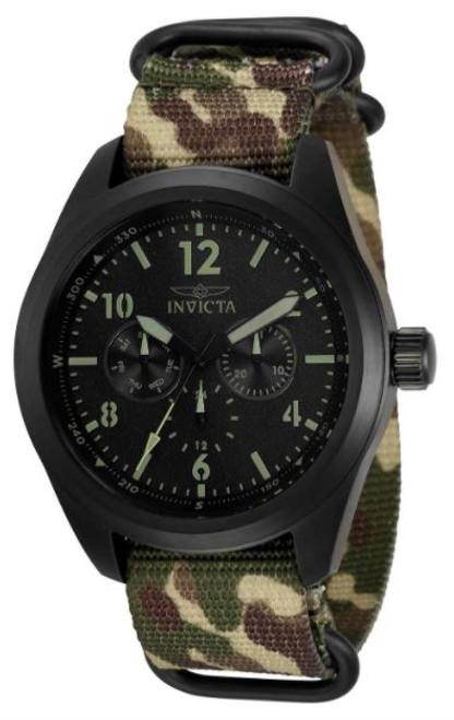 Invicta Men's 33562 Coalition Forces Quartz Chronograph Black Dial Watch