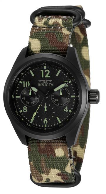 Invicta Women's 33572 Coalition Forces Quartz Chronograph Black Dial Watch