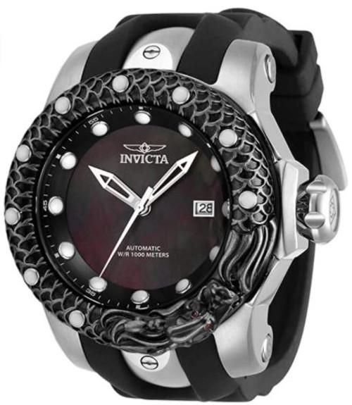 Invicta Men's 33598 Venom Automatic 3 Hand Black Dial Watch