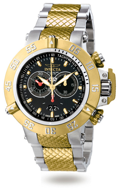 Invicta Men's 4698 Subaqua Quartz Chronograph Black Dial Watch
