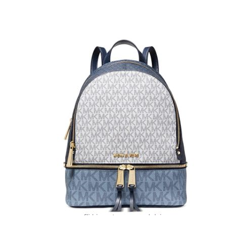 MICHAEL Michael Kors Rhea Zip Medium Backpack Navy Multi One Size …