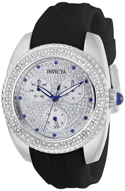 Invicta Women's 28483 Angel Quartz Chronograph White, Pave Dial Watch