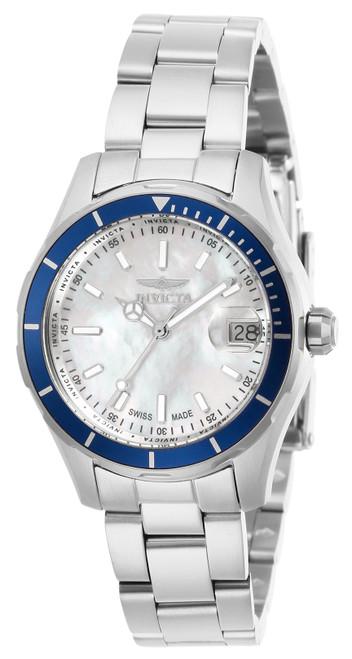 Invicta Women's 28644 Pro Diver Quartz 3 Hand White Dial Watch