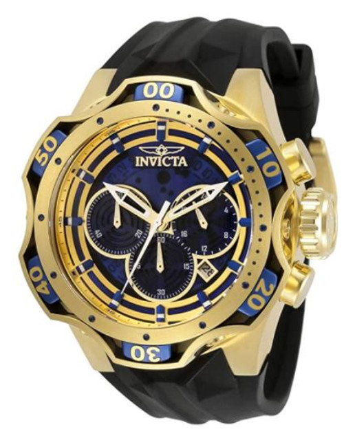 Invicta Venom Chronograph Quartz Blue Dial Men's Watch 33637