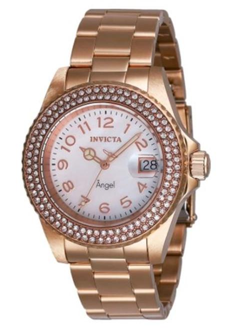 Invicta Women's 28674 Angel Quartz 3 Hand White Dial Watch