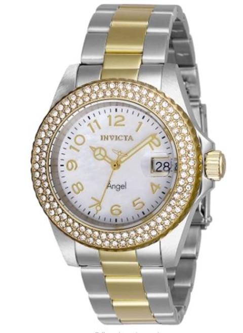 Invicta Women's 28675 Angel Quartz 3 Hand White Dial Watch