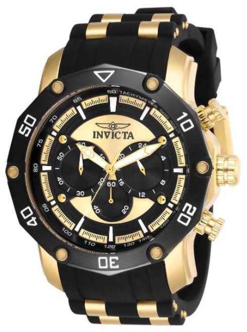 Invicta Men's 28754 Pro Diver Quartz Chronograph Black, Gold Dial Watch