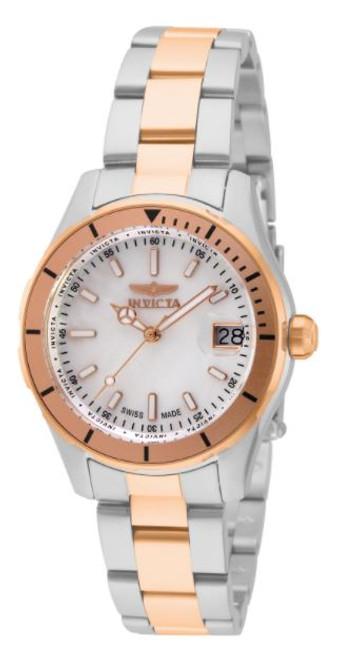 Invicta Women's 33428 Pro Diver Quartz 3 Hand White Dial Watch