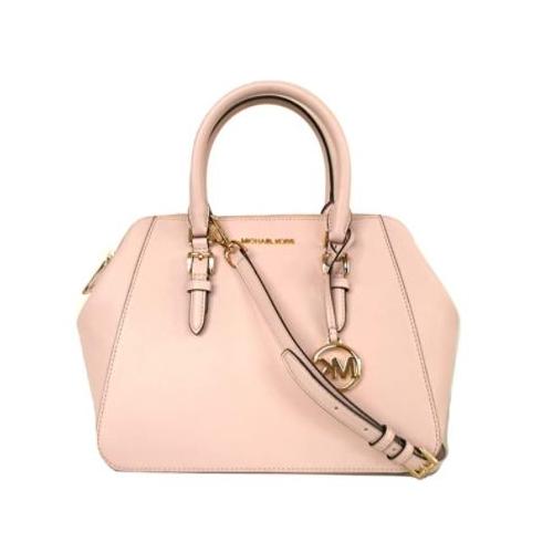 Michael Kors Charlotte Large satchel (powder blush) …